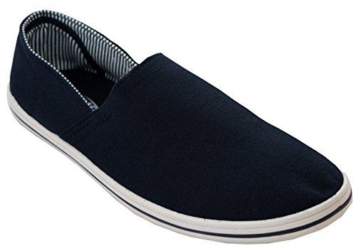 Dek Mens Canvas Slip On Single Gusset Espadrilles Plimsolls Boys Trainers Pumps Casual Beach Shoes UK Size 6-11
