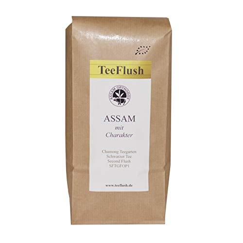 Assam Tee - Goldene Spitzen - Second Flush SFTGFOP1 Bio 2018 500g, Chamong Gruppe-Teegarten Tonganagaon, Lose Blatt - wohltuend würzig, malzig mit Honigton (Würzige Bio-tee)