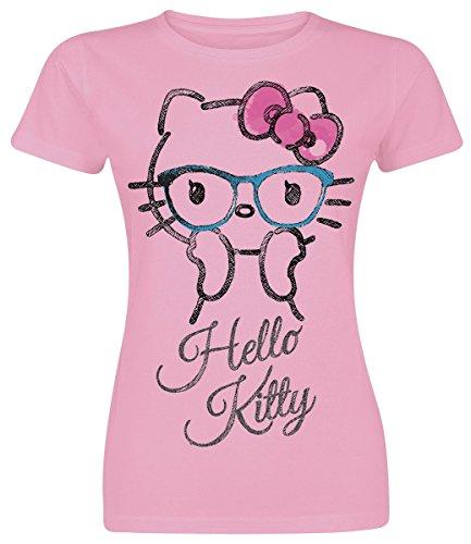 Hello Kitty Surprised Girl-Shirt Rosa Rosa