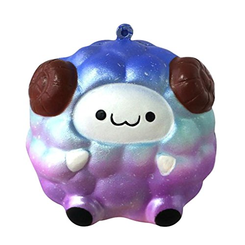 JiaMeng Juguetes de descompresión 2018,El Nuevo Starry Sky Color Squee Soft Sheep Dibujos Animados Squishy Slow Rising Apretón de Juguete (Color Estrella)