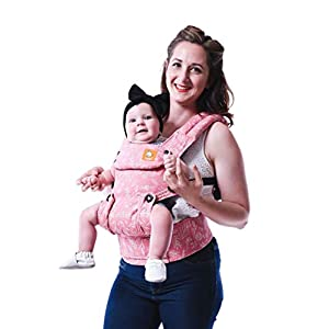 Baby Tula Explore Baby Carrier 3.2 - 20.4 kg, Adjustable Newborn to Toddler Carrier, Multiple Ergonomic Positions, Front and Back Carry, Easy-to-Use, Lightweight - Bloom, Pink and White Floral   7