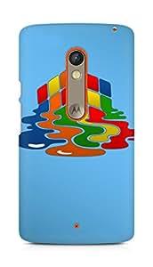 Amez designer printed 3d premium high quality back case cover for Motorola Moto X Play (Rubiks cube puzzle)