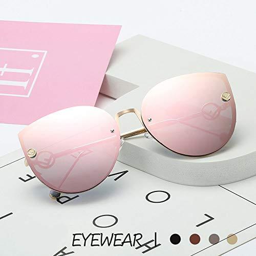 XXTT Cat Eye Sonnenbrille für Männer Frauen mit Radfahren Laufen Fahren Angeln Brille Modifikation Gesichtsform,Pink