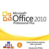 MS Office 2010 Professional Plus 32 bit e 64 bit - Chiave di Licenza Originale per Posta e E-Mail + Guida di TPFNet - Spedizione max. 60min