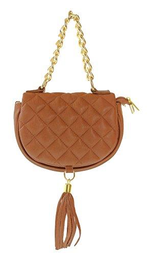 CTM sac pour Femme à main en vrai cuir, 20x14x9cm, en cuir véritable 100% Made in Italy