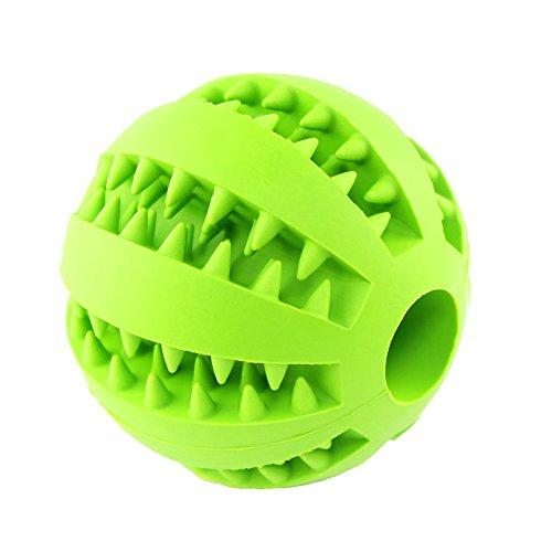 (JER Hund Spielzeug Ball für Pet Tooth Cleaning Training Kauen Spielen ungiftig Weichen Gummi IQ Treat Ball Mint Geschmack Pet beißende Kugel für Pet Dogs Puppy Cat)