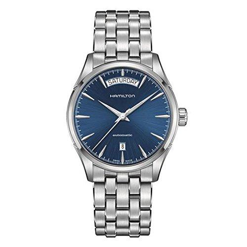 Hamilton Jazzmaster Day Date / orologio uomo / quadrante blu / cassa e bracciale acciaio