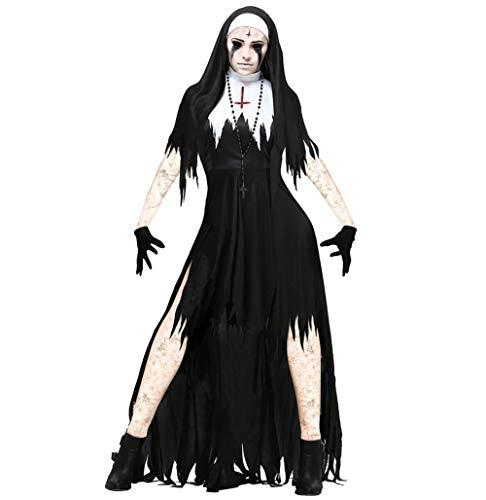 Schrecklichen Kostüm Terror - SOOKi Frauen schreckliche Nonne Kostüm Zombie Cosplay Terror Requisiten-XXL