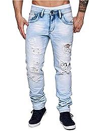 Herren Jeans   Slim Fit · Helle Jeanshose · Used-Look · Löcher · Risse eff8f0c010