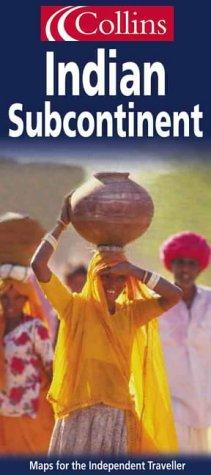 Carte routière : Indian Subcontinent : India, Pakistan, Bangladesh, Nepal, Nad Sri Lanka (en anglais) par Cartes Collin's