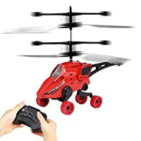 Prevently RC Helicopter, New RC Flying Car Remote Control Toy Air-Ground 2CH Gyro Helicopter RC Drone For Kid