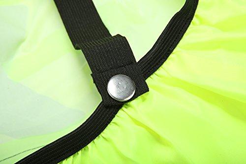 AYKRM Hiv Vis reflektierende Rucksack Rucksack Cover Rucksacküberzug Neon / Sicherheitshülle reflektierend wasserabweisend Regenschutz mit Tasche für Straßenverkehr Schulweg Kinder Fahrrad Outdoor Spo Gelb