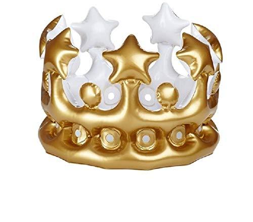 Und Kostüm Silber Gold - 1 aufblasbare Krone 23 cm gold/silber Kostüm Prinz König
