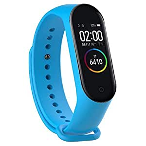 Androne M4 Smart Wrist Band with Pedometer/Activity Tracker/Waterproof/Heart Beat Sensor/Sleep Monitor Compatible with Android and iOS Phones (Specific Colors) (Royal Blue)