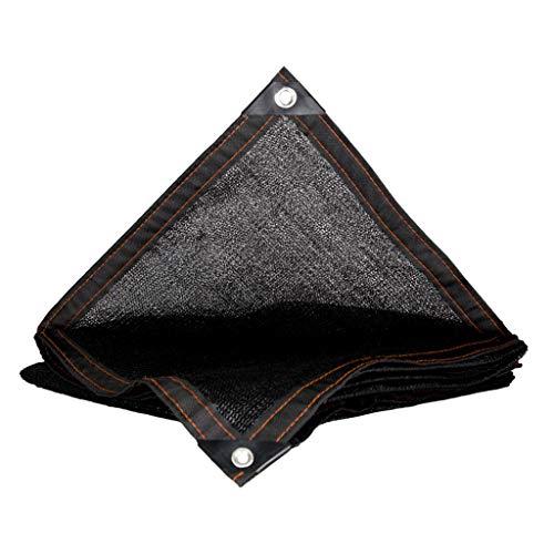 Lixin Filet d'ombrage épaississant extérieur pour parasol en polyéthylène haute densité (Couleur : NOIR, taille : 4M×6M)