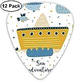 Médiators - Pack de 12, icônes Sea Adventures Ship Baby Whale Puffy Clouds Fishes, pour guitare électrique basse acoustique