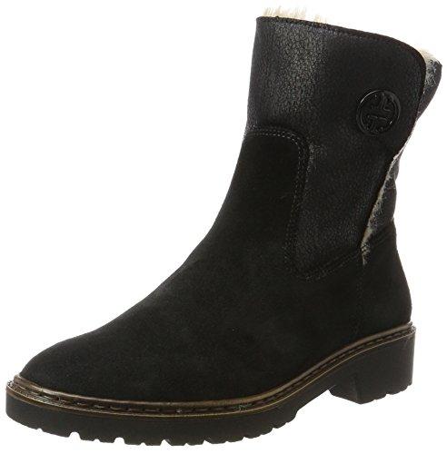 Jenny Damen Portland-St Schlupfstiefel, Schwarz (Schwarz,Nero), 40 EU (6.5 UK) (Schnee Echtes Stiefel Leder)