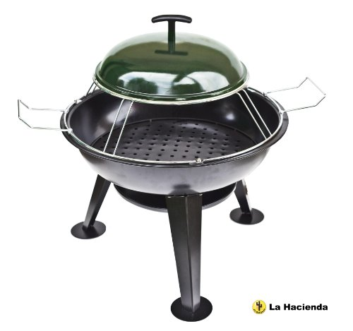 La Hacienda: Pizza Firepit Steel Firepit - Black