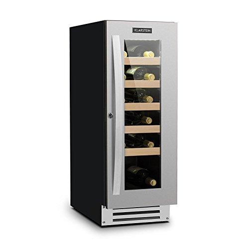 Klarstein Vinovilla Smart • Weinkühlschrank • Getränkekühlschrank • Volumen 50 Liter • 20 Flaschen • Tür mit Schloss und 2 Schlüsseln • LED-Innenbeleuchtung • schwarz