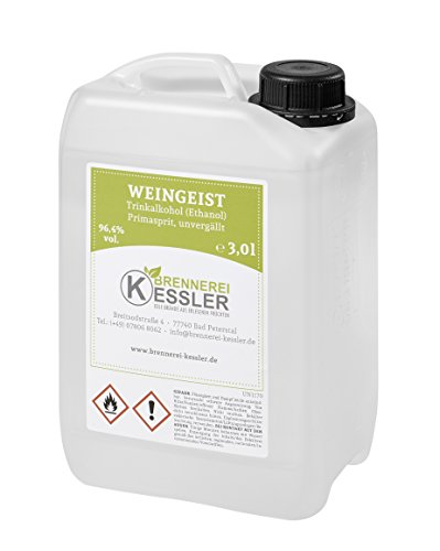 Weingeist Primasprit Ethanol 96,4% - 3000ml - Brennerei Kessler