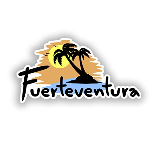 Preisvergleich Produktbild 2x Fuerteventura Vinyl Aufkleber Reise Gepäck # 10308 - 15cm/150mm Wide