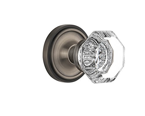Nostalgic Warehouse BN10-CLAWAL-AP Classic Rosette with Waldorf Knob Passage, Antique Pewter by Nostalgic Warehouse