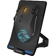 ROCCAT LEADR RF inalámbrica + USB Óptico 12000DPI Mano Derecha Negro - Ratón (Mano Derecha, Óptico, RF inalámbrica + USB, 12000 dpi, 250 pps, Negro)