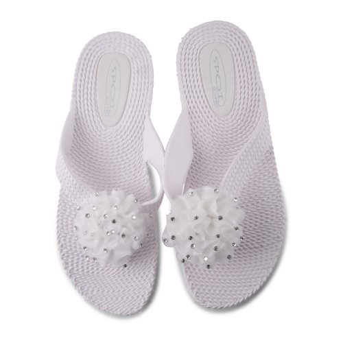 Footwear Sensation, Infradito donna Nero nero Nero (bianco)