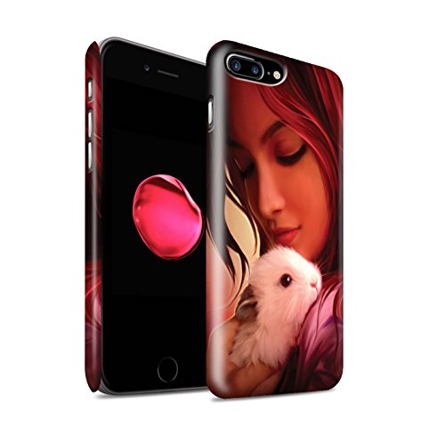 Officiel Elena Dudina Coque / Clipser Matte Etui pour Apple iPhone 7 Plus / Le Calin/Chiot/Chien Design / Les Animaux Collection Dans mes Bras/Sûr