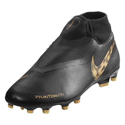 Nike Unisex-Erwachsene Phantom VSN Academy Dynamic Fit MG Fußballschuhe Mehrfarbig (Black/MTLC Vivid Gold 077) 44.5 EU
