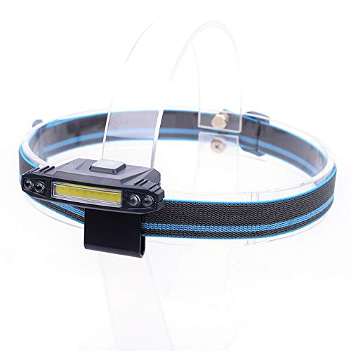 WMM- headlamp Torcia Frontale a LED Ricaricabile, fari a LED Super Luminosi, 3 modalità, Migliori fari per Campeggio, Escursionismo, Jogging, Pesca Sportiv