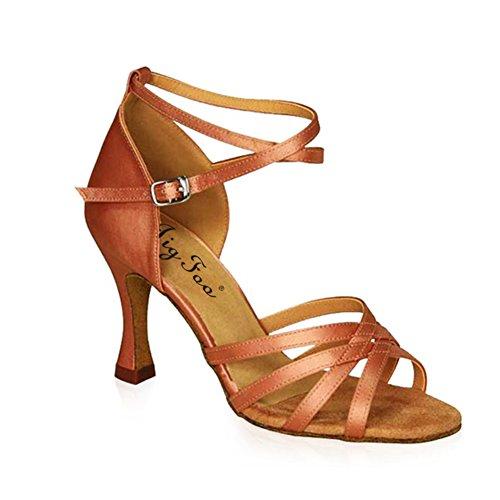 Latin Schuhe weichen Boden/Adult Schuhe mit hohen Absätzen/Tanz Fersen/Lombardei Schuhe-D (Schuhe Jane Lady Adult)