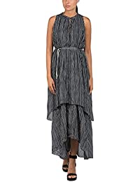 Replay Women's All Over Printed Stripes Cotton Muslin Dress 100% Cotton