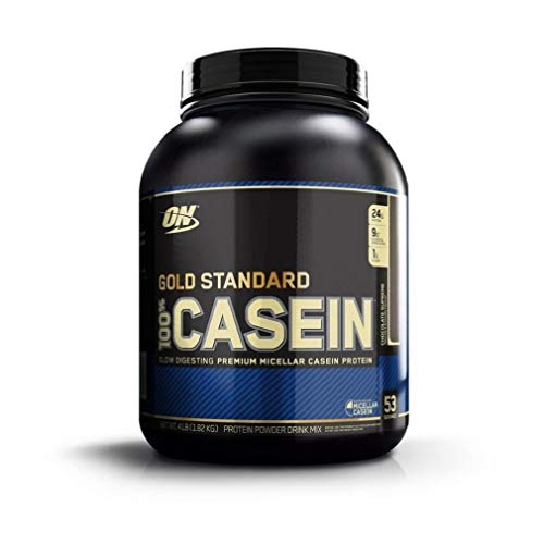 Optimum Nutrition Gold Standard Casein Protein Pulver (mit Glutamin und Aminosäuren. Eiweisspulver von ON) Chocolate Supreme, 53 Portionen, 1,82kg - Gold-standard-protein-shake