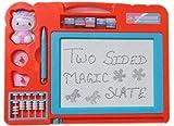 #7: Magic Slate + Black Slate Chalk Board,Double Sided Slate Magic + Chalk Slate(Multicolour)