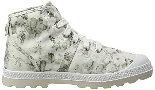 LP Palladium floral Pallabrouse Print Femme Blanc moonbeam Basses Sneakers White Mid qrEBr