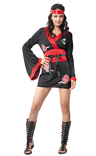 ja Girl Kostüm Damen Erwachsene Womens, schwarz, Größe 40-42, 62058 ()