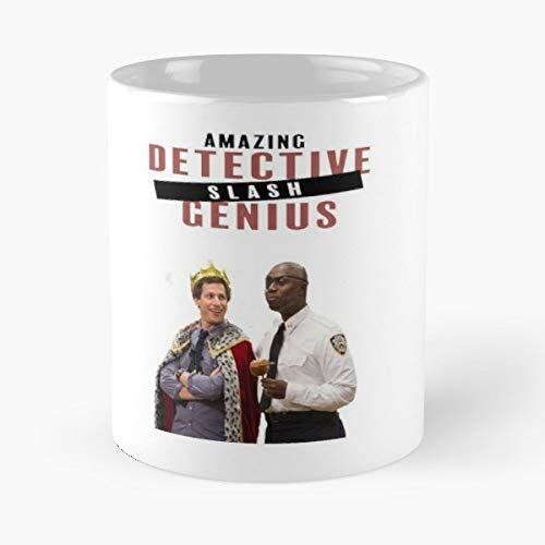Brooklyn Nine B99 99 Police - Funny Gifts For Men And Women Gift Coffee Mug Tea Cup White-11 Oz.
