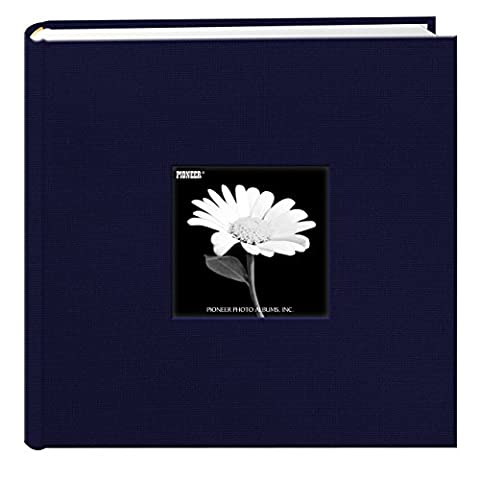 Fabric Frame Cover Photo Album 200 Pockets Hold 4x6 Photos, Royal Navy