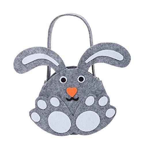Osterhase Candy Bag Eierbeutel Grey Rabbit Gift Bag