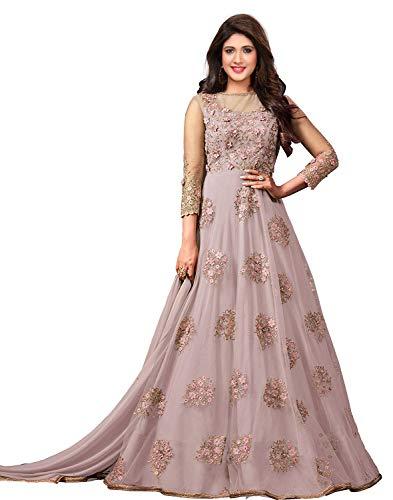 Royal Export Women's Net Dress Material (sonam-Pink-salwar suit_Pink_Free Size)