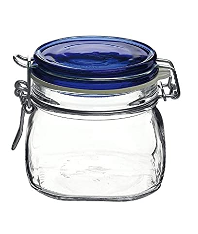 Bormioli Rocco Clamp Lid & Silicone Seal Kitchen Storage Jar with Air Tight Seal for Rice Pasta Pickling