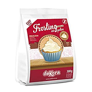 Dekora - Frosting para Tarta de Vainilla en Polvo para Adornar Tartas, Bizcochos o Cupcakes - 300 Gr
