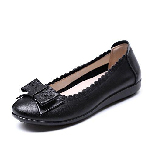 shallow pointure féminine/Plat douce maman d'âge moyen à la fin de la chaussure/Casual chaussures femme A