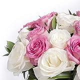 Ternura factoría flor 12 rosas frescas blancas y rosas. Posibilidad de envío en 24 horas...
