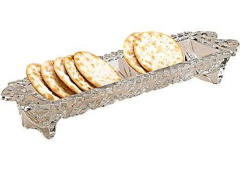 Fifth Avenue Portico 12-Inch Cracker Tray by Unknown Crystal Cracker Tray