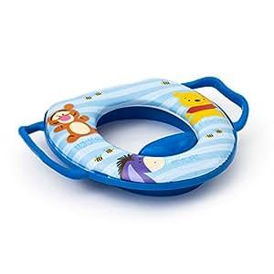 winnie pooh weicher gepolsterter wc sitz blau baby kinder. Black Bedroom Furniture Sets. Home Design Ideas