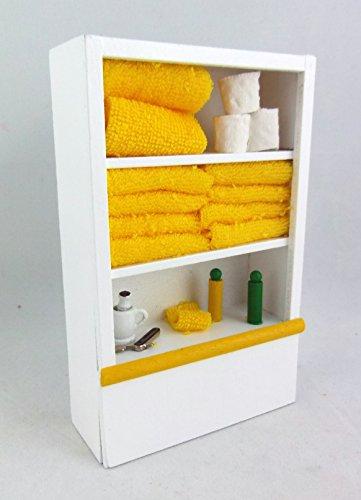 Melody Jane Dolls Houses Puppenhaus Miniatur Möbel weiß Badezimmer Regal & Zubehör Lemon