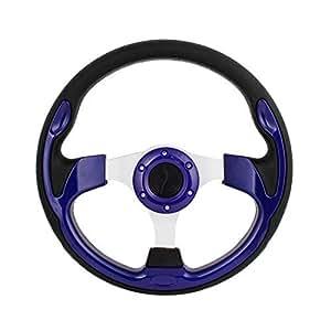 Acessory voiture en plastique bleu 6 trous de fixation sur 30cm Volant Dia