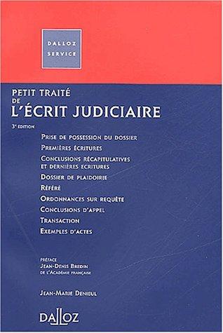 Petit traité de l'écrit judiciaire par Jean-Denis Bredin